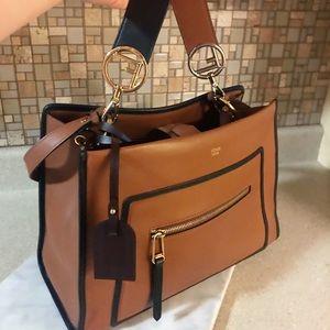 Auth. Fendi Medium $2900 Runaway Tote Bag Set